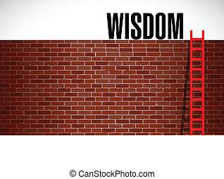 escalera, a, wisdom., ilustración, diseño