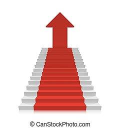 escalera carrera, cima