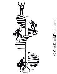 escalera carrera