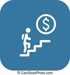 escalera carrera, concepto, icon., empresa / negocio