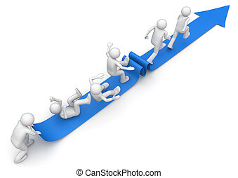 escalera carrera, /, escalera de mano del éxito