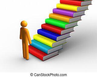 escalera de mano del éxito
