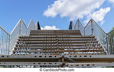 escalera de metal, modular