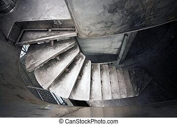 escalera, de, un, yate