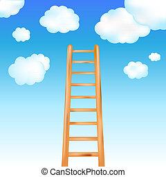 escalera, en, cielo