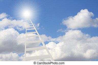 escalera, en, el, cielo