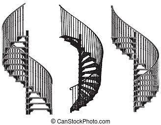 escalera, espiral