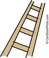 escalera, icono