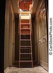 escalera, interior