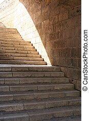 escalera, luz