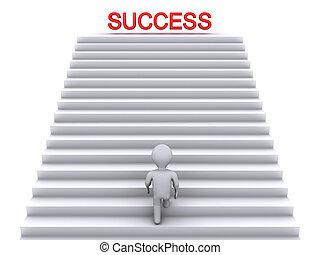 escalera que sube, éxito