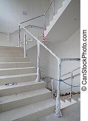 escalera, renovación