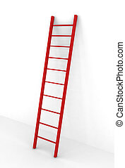 escalera, rojo