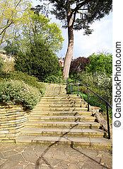 escaleras, en el parque, reino unido