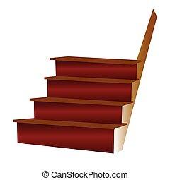 escaleras, ilustración