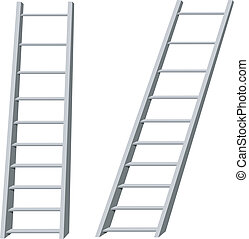 escaleras, vector, ilustración