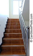 escalier, étapes, pierre, souvent, ville, monuments, résumé, blanc, diagonal, photo, repères, noir, large, granit, vu, blanc, escalier, escalier