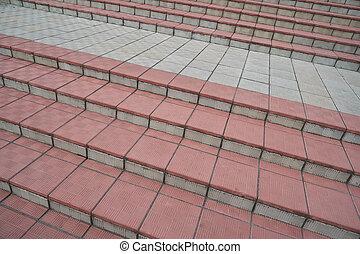 escalier, étapes, résumé, ville, escalier