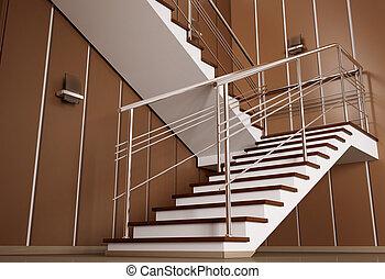 escalier, 3d