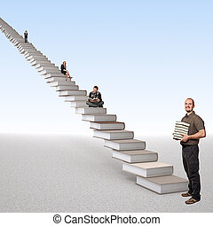 escalier, apprentissage