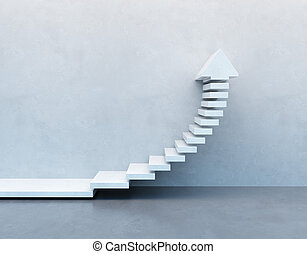 escalier, ascendant, aller