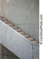 escalier, béton