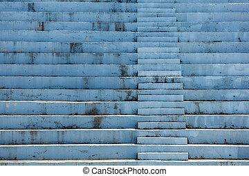escalier, béton, pierre, résumé, escalier, étapes
