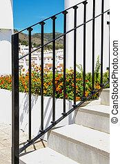 escalier, balustrade métal