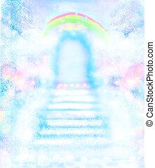 escalier, ciel