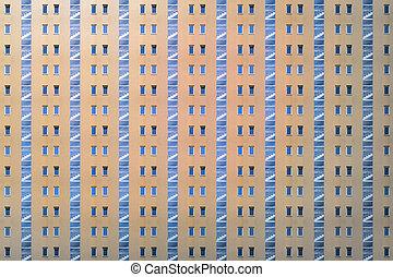 escalier, fenetres, modèle, jaune, architectural, maison