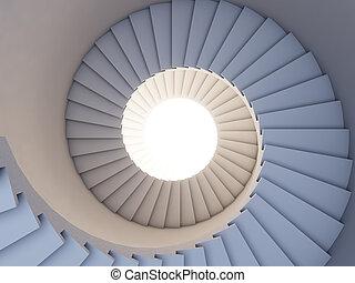 escalier, future.