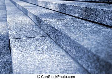 escalier, granit
