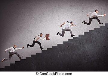 escalier grimpeur, businesspeople