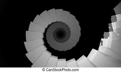 escalier, infinité, infinity., fin, tunnel, lumière, 12, ...