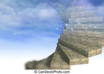 escalier, interminable