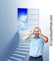 escalier, liberté