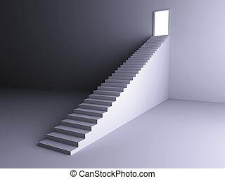 escalier, lumière