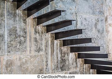 escalier, métal
