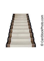 escalier, marbre blanc, fond
