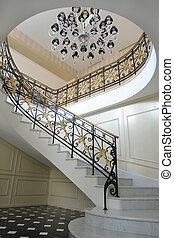 escalier, marbre