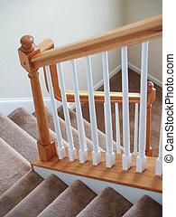 escalier, moquetté, vertical