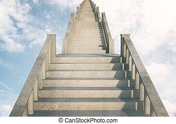 escalier, reussite