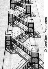 escalier secours