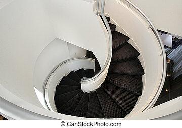 Escalier plancher bois dur spirale luxe foyer con u for Escalier spirale