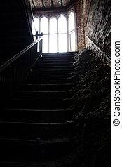escalier, terrifiant