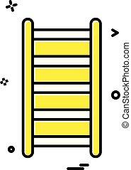 escalier, vecteur, conception, travail, icône