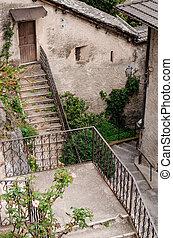 escalier, village
