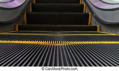 escaliers., automatisé, angle, light., machinerie, escalier...
