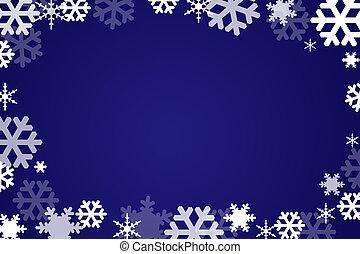 escamas, nieve, plano de fondo