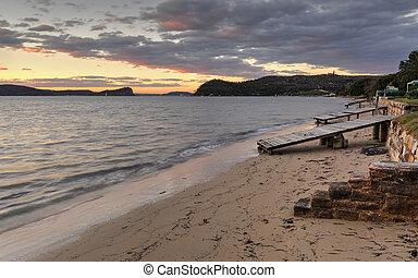 escamotee playa, barco, rampas